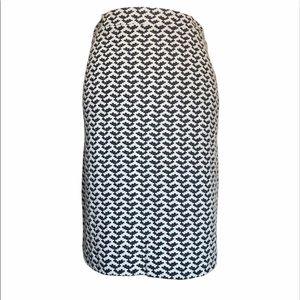 BR Navy & Cream Pencil Skirt